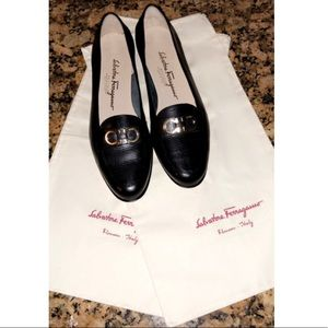 Black Alligator Ferragamo Loafers